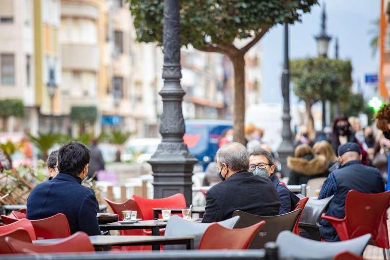Terraza de un bar de la Comunitat Valenciana. / EPDA