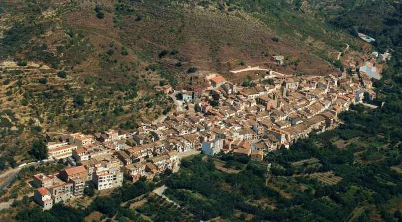 Vista aérea de Algimia de Almonacid