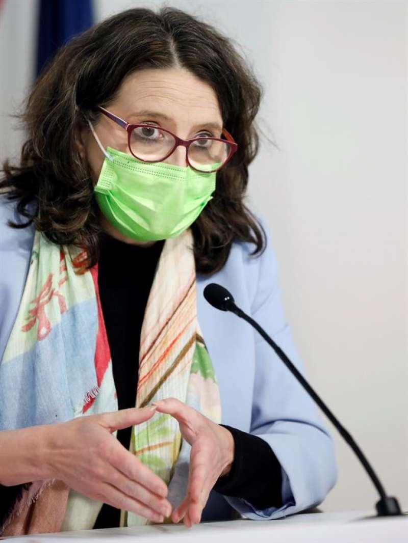 La vicepresidenta y portavoz del Gobierno valenciano, Mónica Oltra, en una imagen de esta semana. EFE/Ana Escobar/Archivo