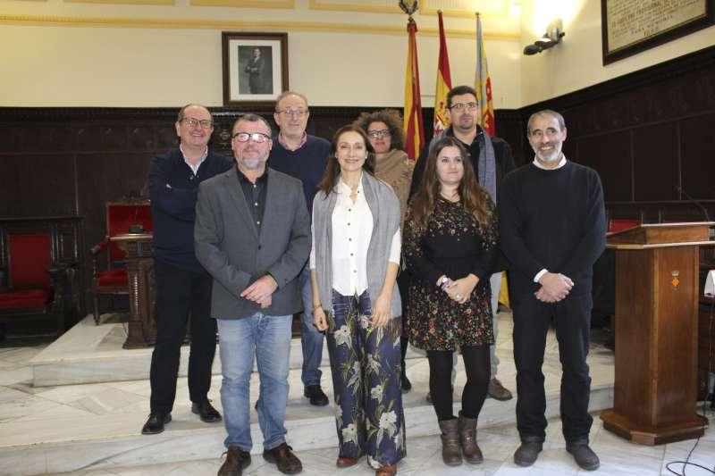 En la recepción de Rosana Pastor. Foto EPDA