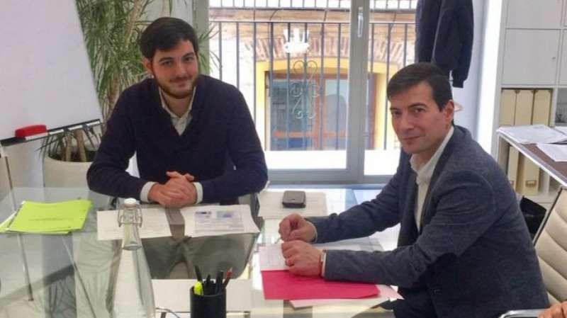 Alberto Aznar y Rafa García, en la reunión. EPDA