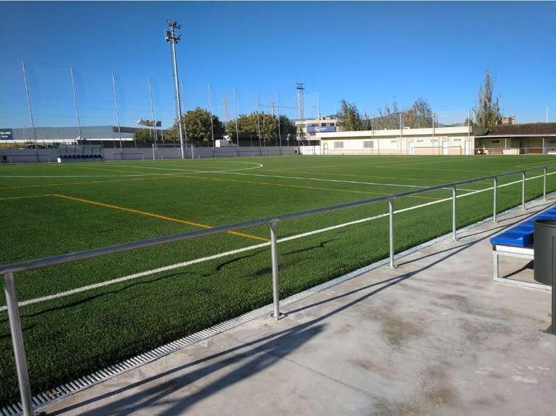 Estado del campo de fútbol tras la remodelación. EPDA