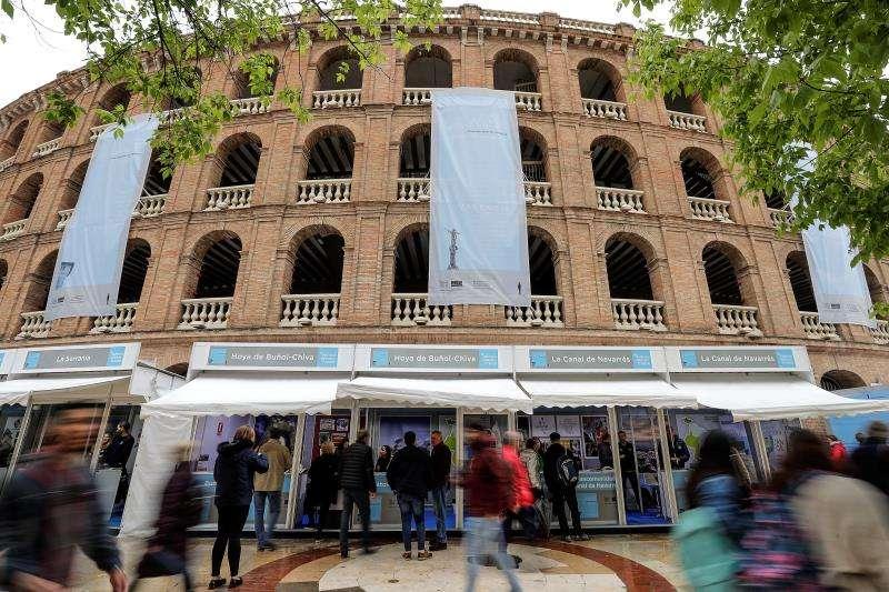 La gastronomía valenciana ha sido el principal escaparate de la séptima edición de la Fira de les Comarques, iniciativa impulsada por el Patronato de Turismo de la Diputación de Valencia. EFE/Archivo