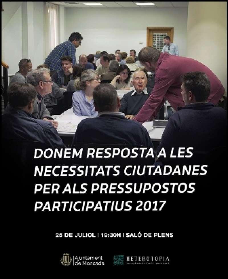 Presentació dels pressupostos a Moncada. EPDA