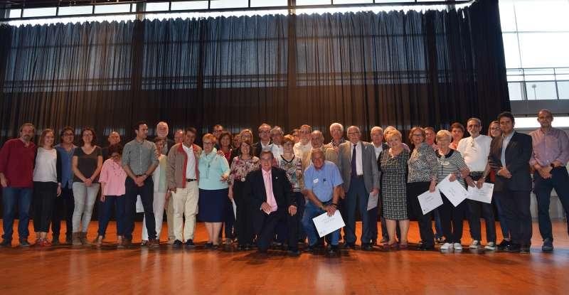 Més de 300 persones celebren a Vilamarxant la X Trobada de voluntariat per a majors de la Unió Democràtica de Jubilats i Pensionistes de València