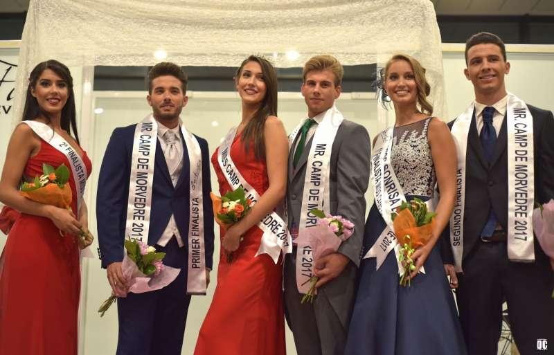 Miss y Mistero con sus dos finalistas en El Faro de Canet.