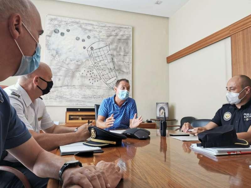 La reunión de seguridad en Xirivella. EPDA