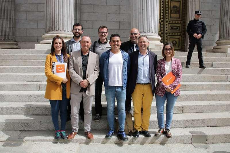 Diputats i senadors de Compromís en Madrid. EPDA