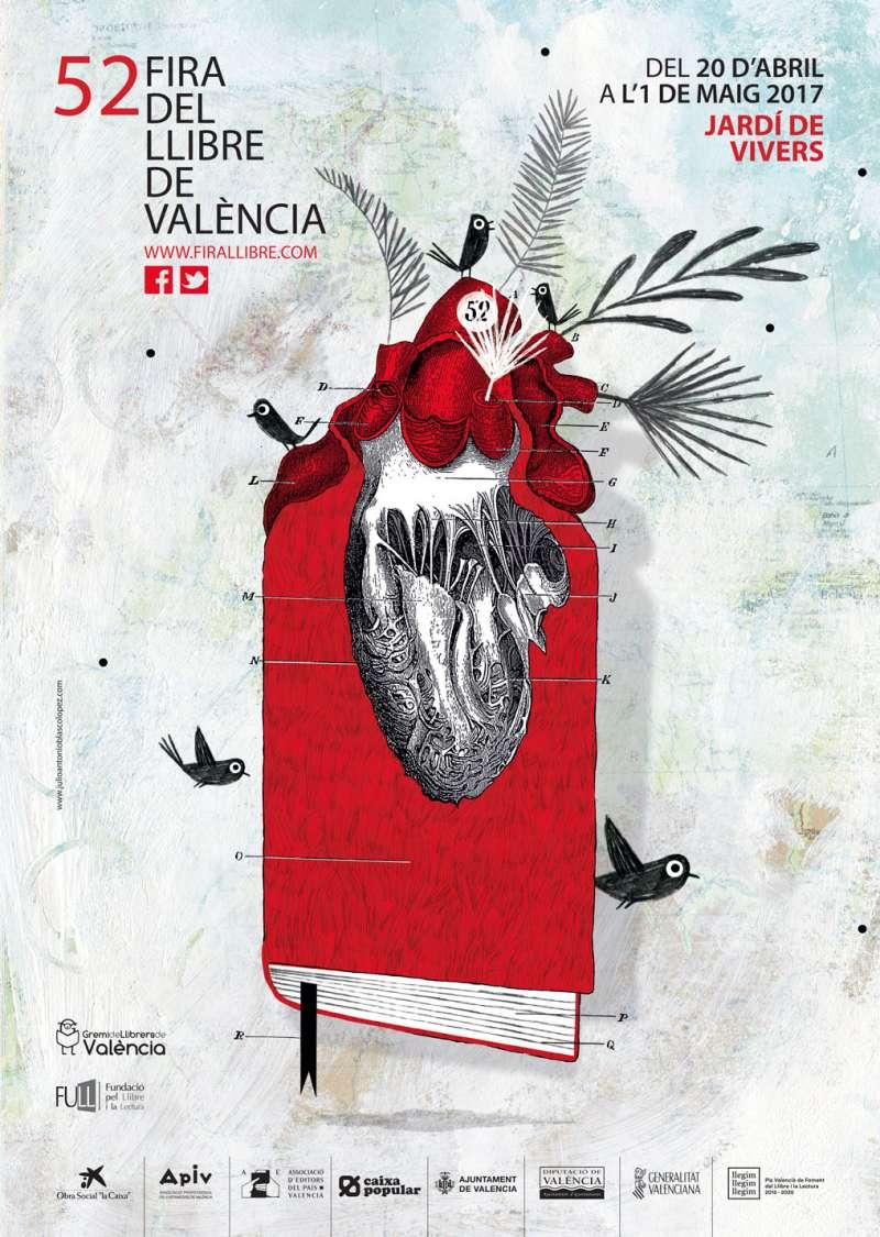 Cartel de la Fira del Llibre de València. FOTO EPDA