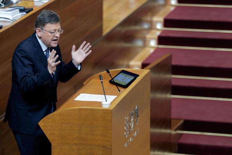 El president de la Generalitat, Ximo Puig, interviene en una sesión del control al Consell en Les Corts. EFE/Archivo