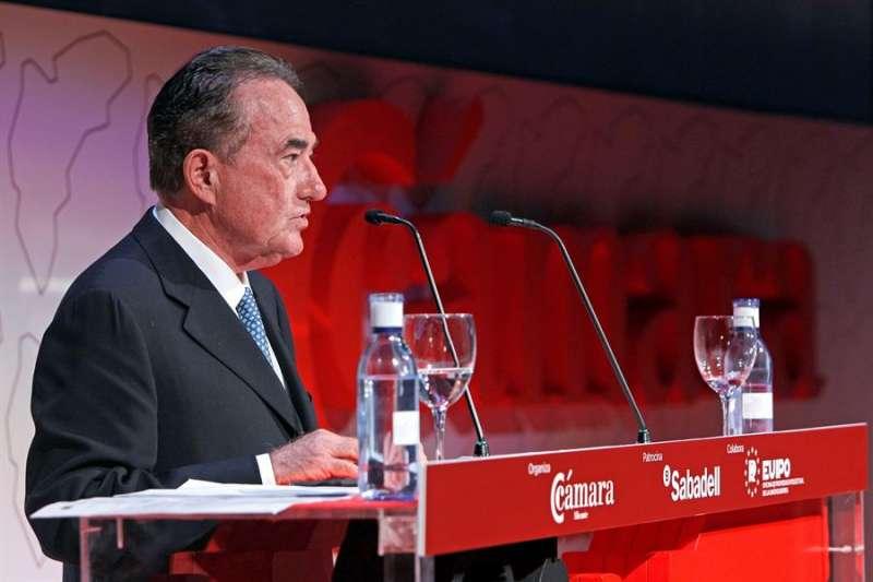 El presidente de la Cámara de Comercio de Alicante, Juan Riera. EFE/Morell/Archivo