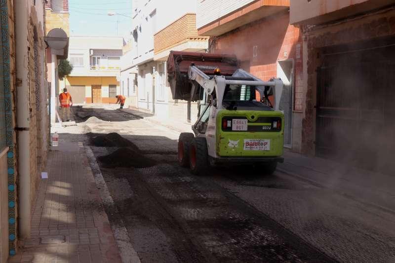 Pavimentació carrers de Sagunt. EPDA