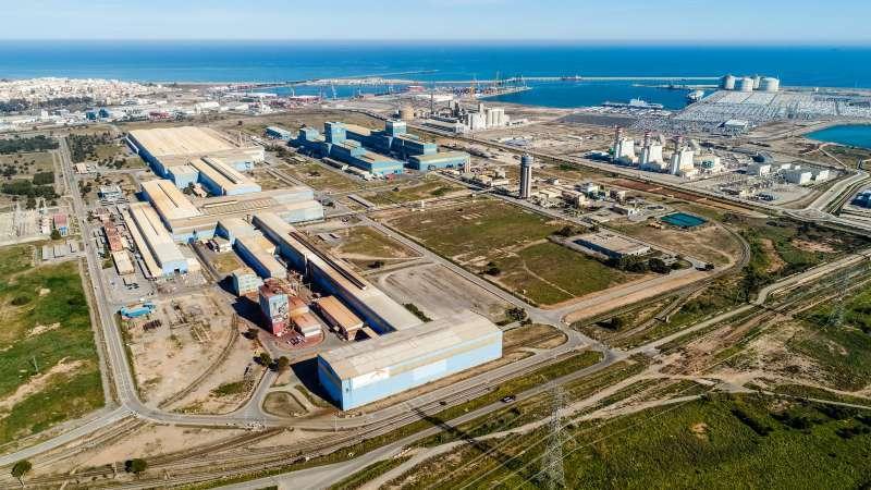 Imagen de la planta de ArcelorMittal de Sagunt. EPDA
