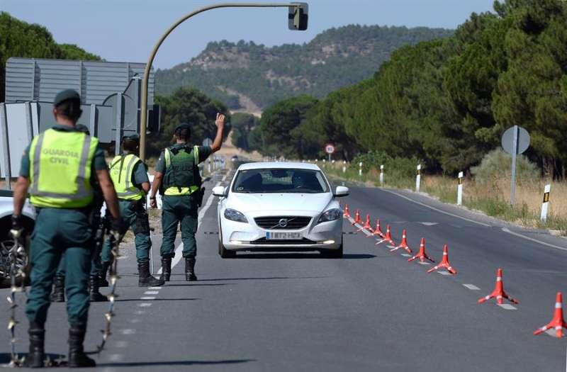 Un control de la Guardia Civil. EFE