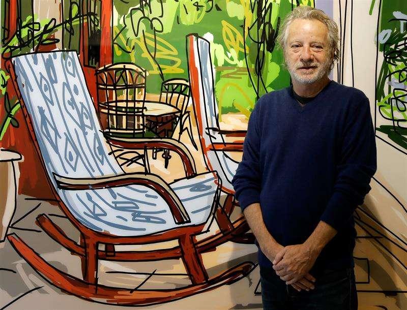 El dibujante Javier Mariscal durante la presentación de su exposición