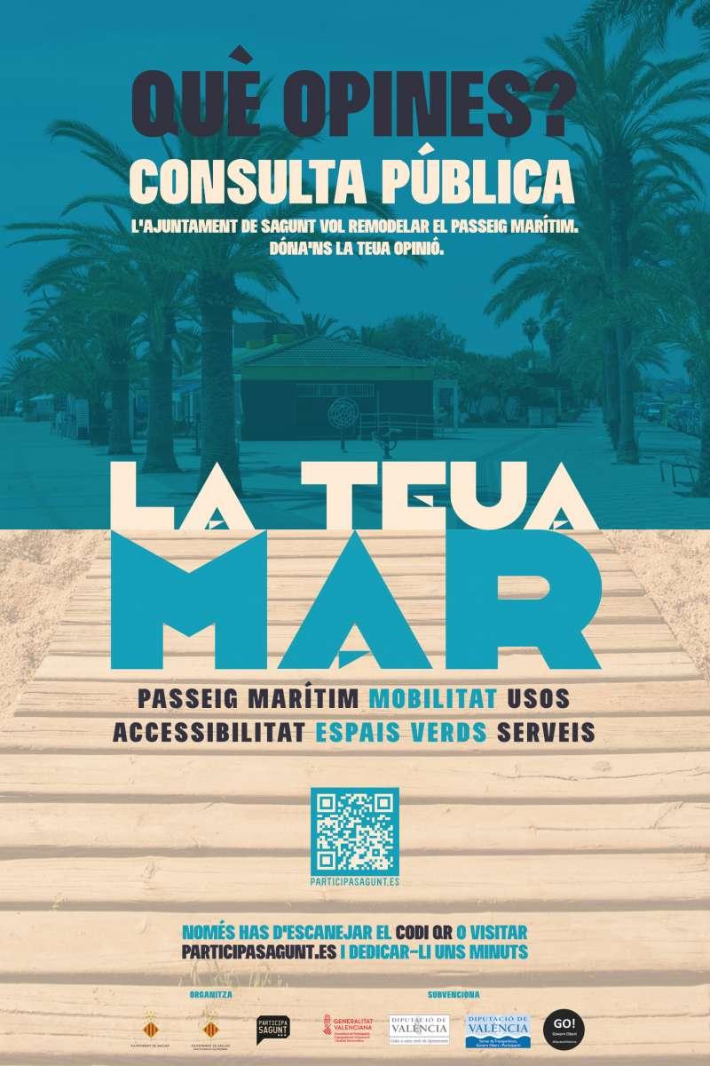 Cartel de la consulta pública promovida por el Ayuntamiento de Sagunto.