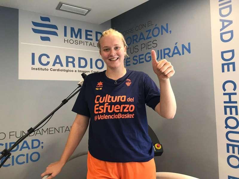 La pívot checa Julia Reisingerova, nueva jugadora del Valencia Basket. EPDA