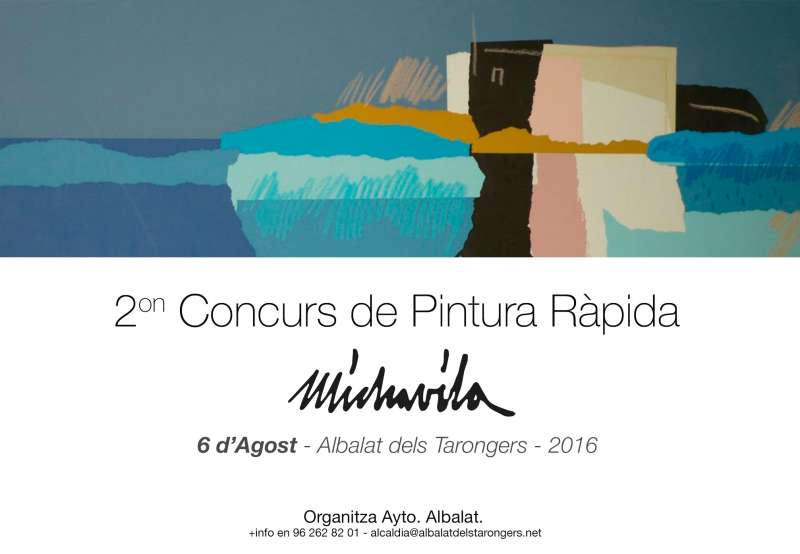 Cartel del concurso de pintura de Albalat dels Tarongers. EPDA