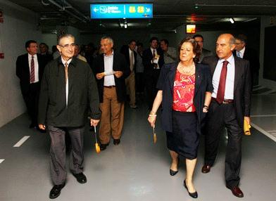 Rita Barberá inaugura un nuevo aparcamiento público en la calle Barón de Cárcer. Foto EPDA
