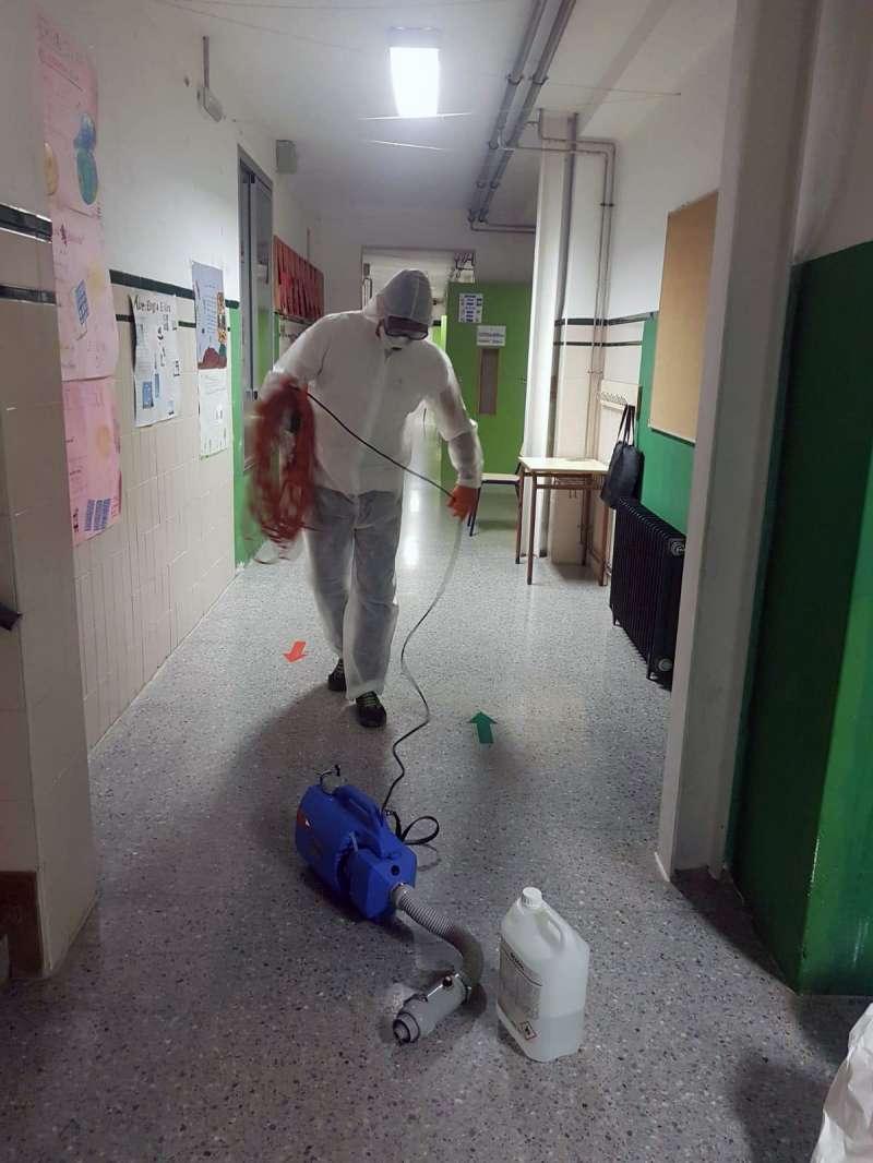 Desinfección en el cole