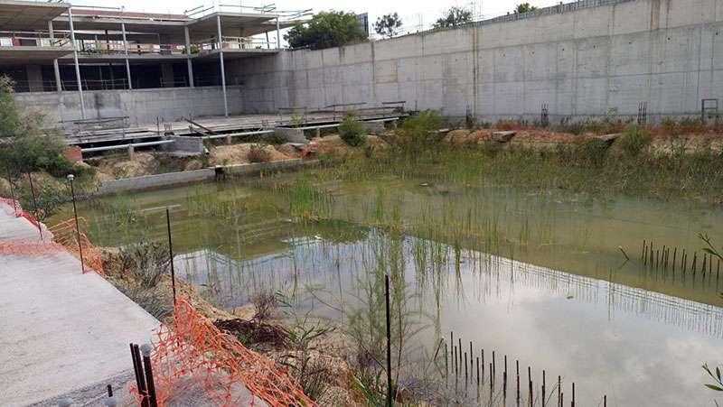 El embalse se forma todos los años con la temporada de lluvias. EPDA.
