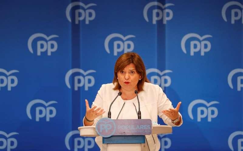 La presidenta del PPCV, Isabel Bonig, en una imagen de esta semana. EFE/Manuel Bruque