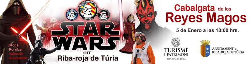Los míticos personajes de Star Wars desfilarán en la Cabalgata de Reyes de Riba-roja el próximo 5 de enero
