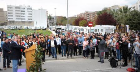 Inauguracion parking caravanas en l