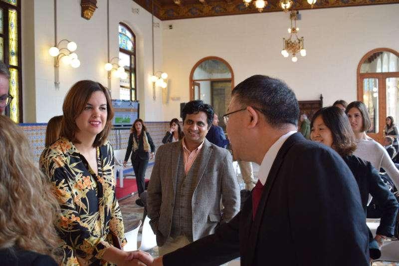 la regidora de Desenvolupament Econòmic Sostenible, Sandra Gómez, en la la Jornada Àsia Innova. EPDA