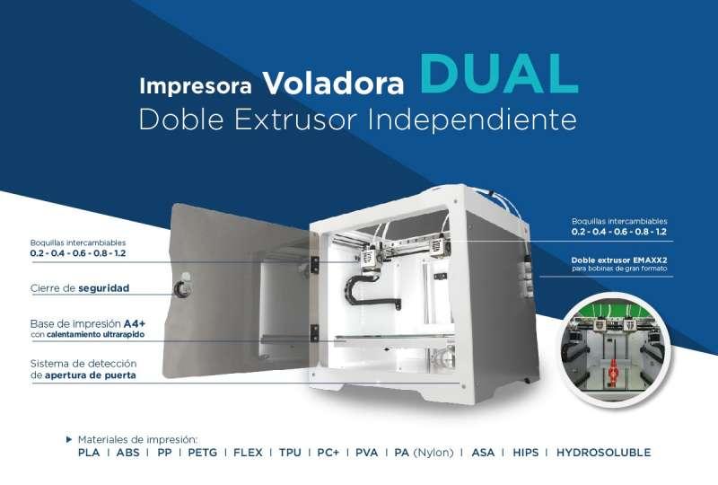 Impresora voladora Dual. EPDA