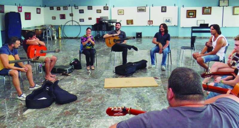 Participantes de la edición pasada del Festival de Guitarra de Quartell. EPDA