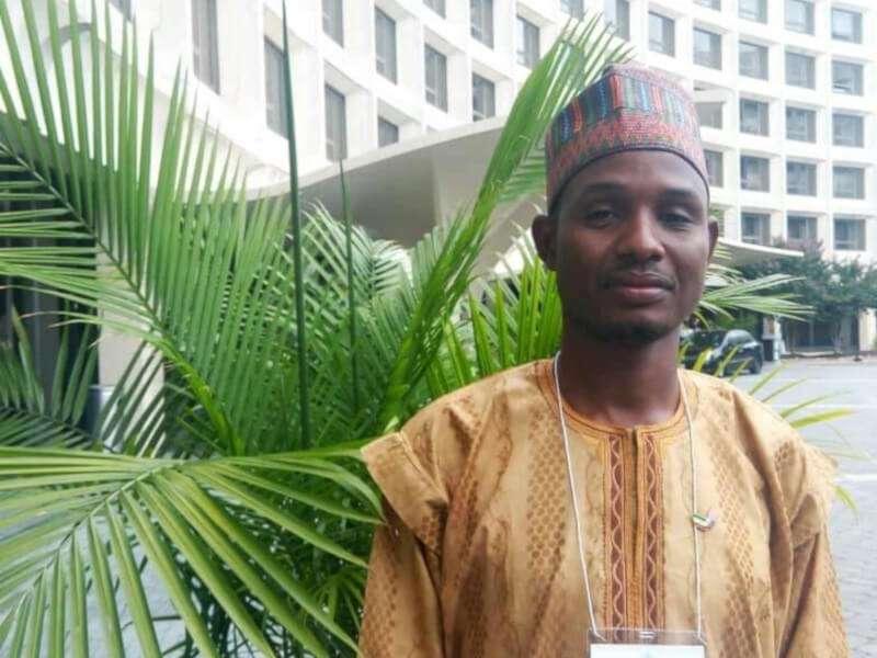 El periodista nigeriano. EPDA