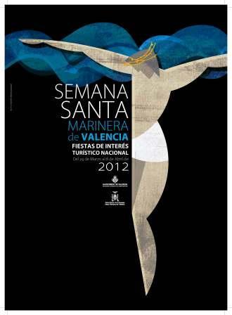 Cartel de la Semana Santa Marinera de Valencia 2012. Foto EPDA