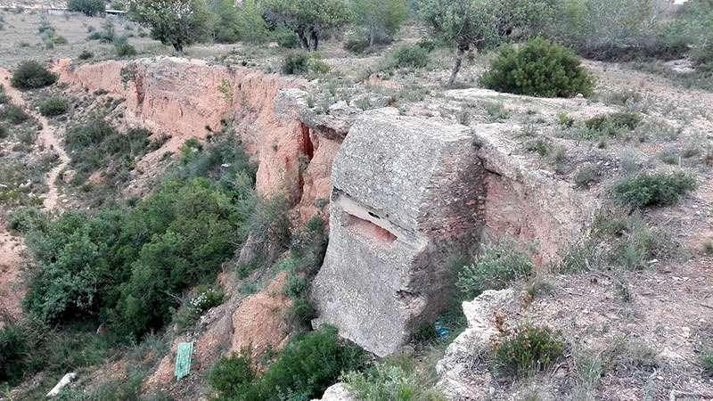 Uno de los restos bélicos de Riba-Roja. EPDA.