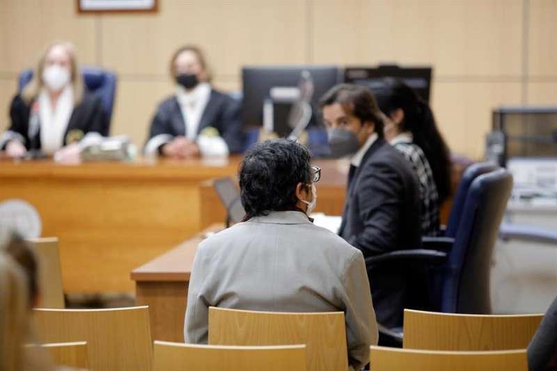 El exmarido de Oltra durante un juicio