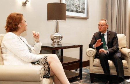 El President de la Generalitat y la Presidenta de Aragón.