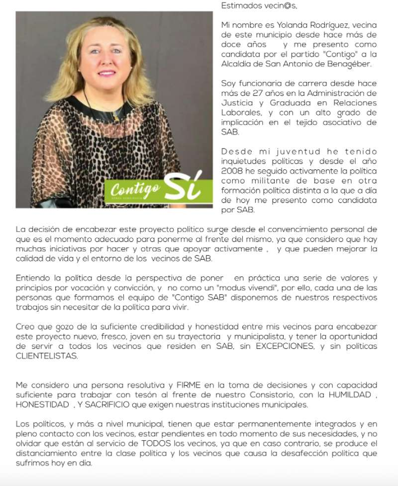 CLICA PARA LEERLA. Carta de presentación de Yolanda Rodríguez. EPDA