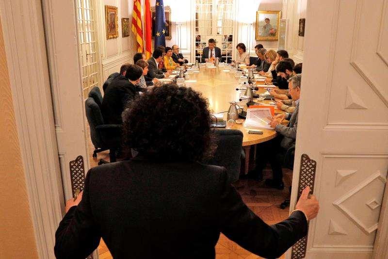La junta de portavoces de Les Corts Valencianes. EFE/Archivo