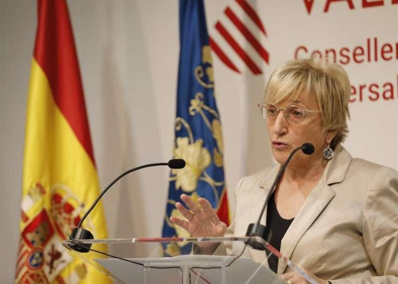 La Consellera de Sanidad, Ana Barceló, durante la rueda de prensa en la que ha informado de las medidas adoptadas