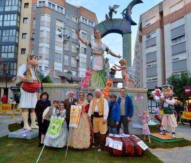La Falla Palmaret consigue el primer premio en Alboraia. FOTO: EDPA