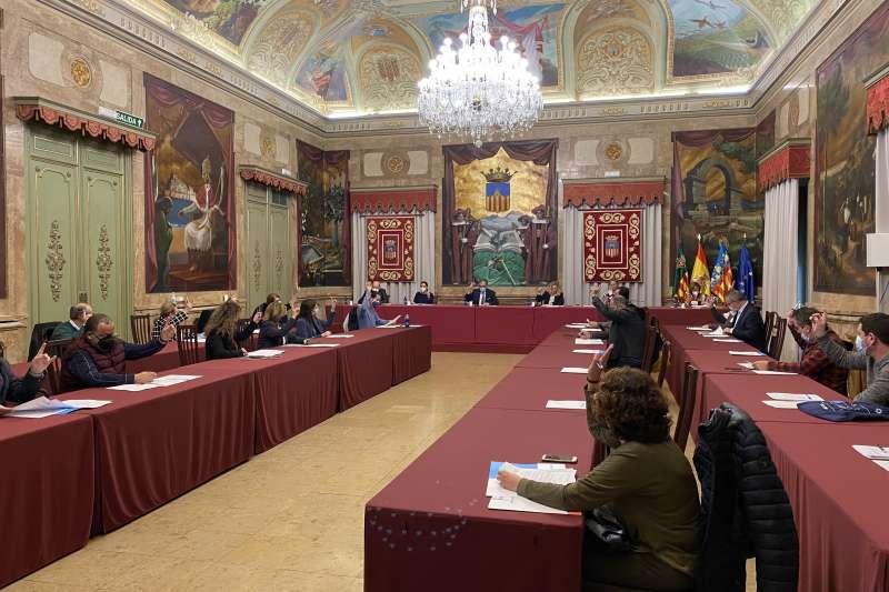 Sesión plenaria de la Diputación de Castellón