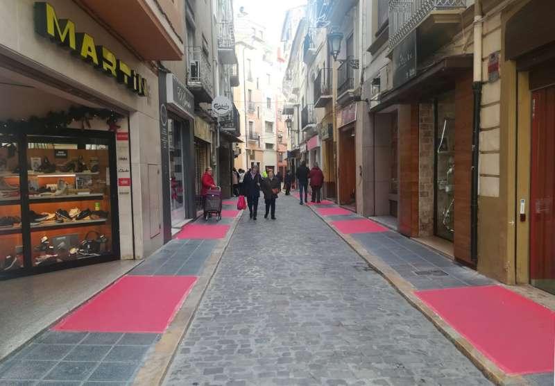 Alfombras en la calle Julio Cervera