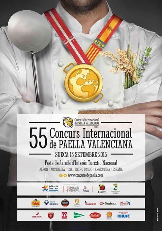 Cartell anunciador del Concurs de Paella Valenciana. FOTO EPDA