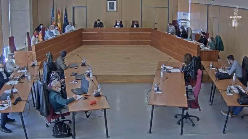 Celebración del pleno en Alboraya