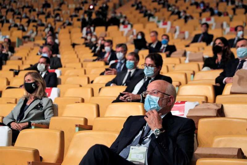 El presidente de Mercadona, Juan Roig, en el congreso. EFE