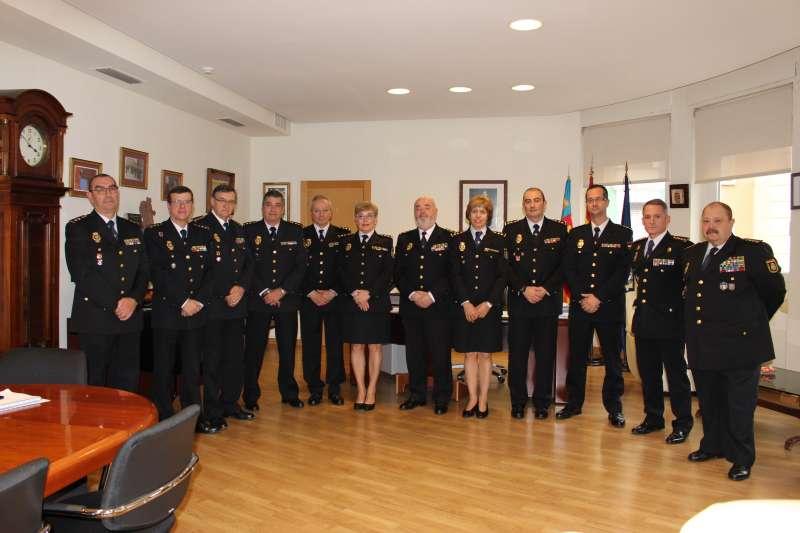 Los nuevos agentes presentados. FOTO POLICÍA