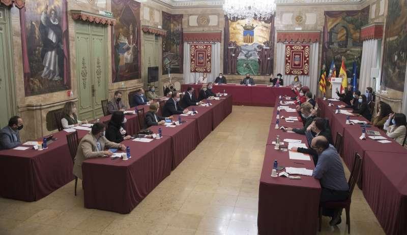 Salón de sesiones en pleno