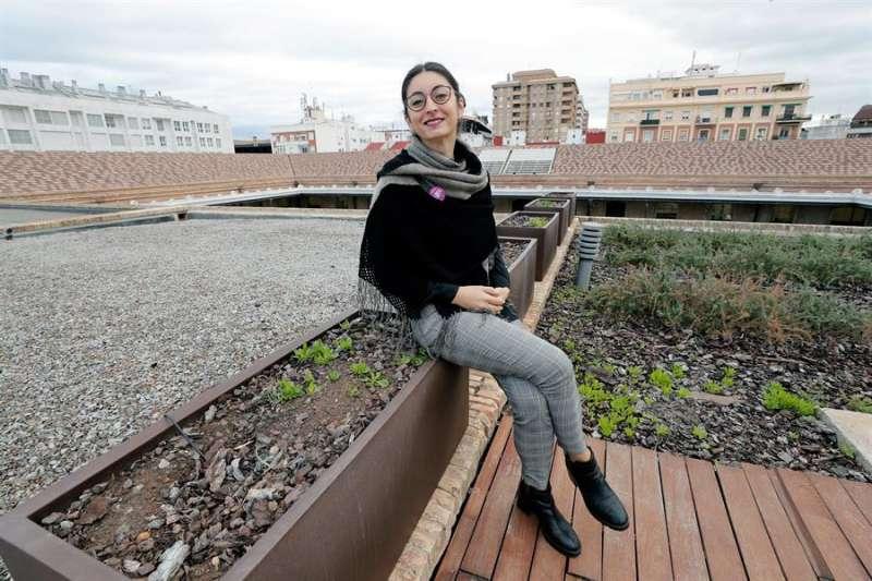 La concejala de Espacio Público, Lucía Beamud, en la entrevista con EFE. EFE/Juan Carlos Cárdenas