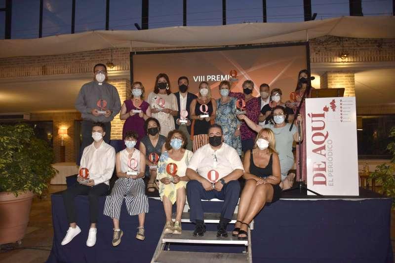 Foto de familia de los premiados. Plácido Gónzález
