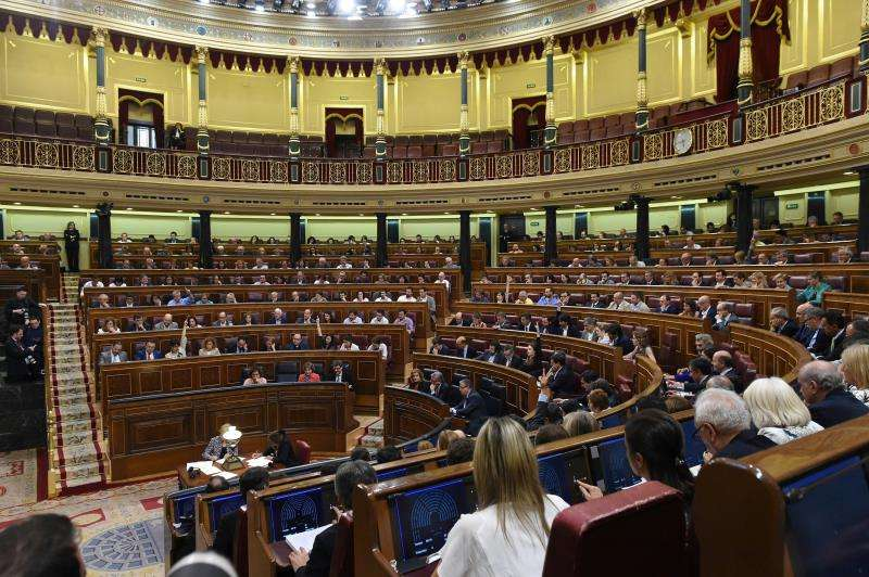 Vista general del hemiciclo del Congreso. EFE/Archivo